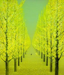 「金色の道」絹本着彩 F8