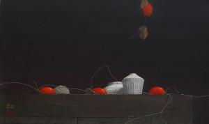 「閑 日」33x55cm 2011年1月個展