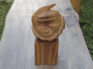 「だんごわに・オキアガリ」素材:ツバキ