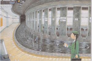 「旅魚たちの午後」 72.7x50cm  2003年制作
